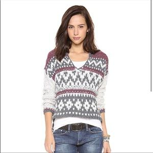 Free people cropped sweater with hood